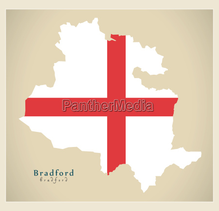 modern city map bradford with