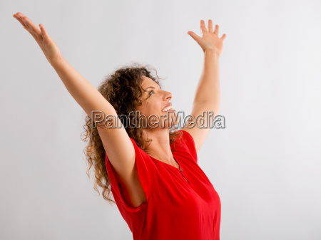 portrait of a happy mature woman