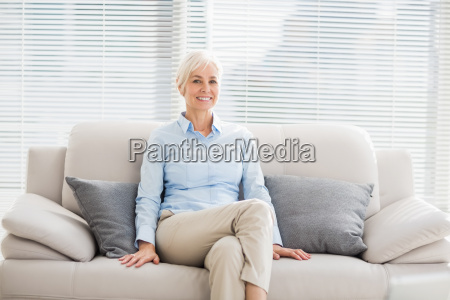 portrait of smiling senior woman on