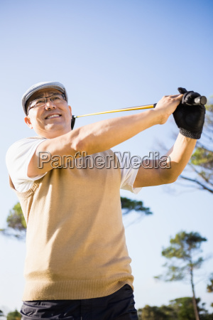 low angle view of sportsman playing