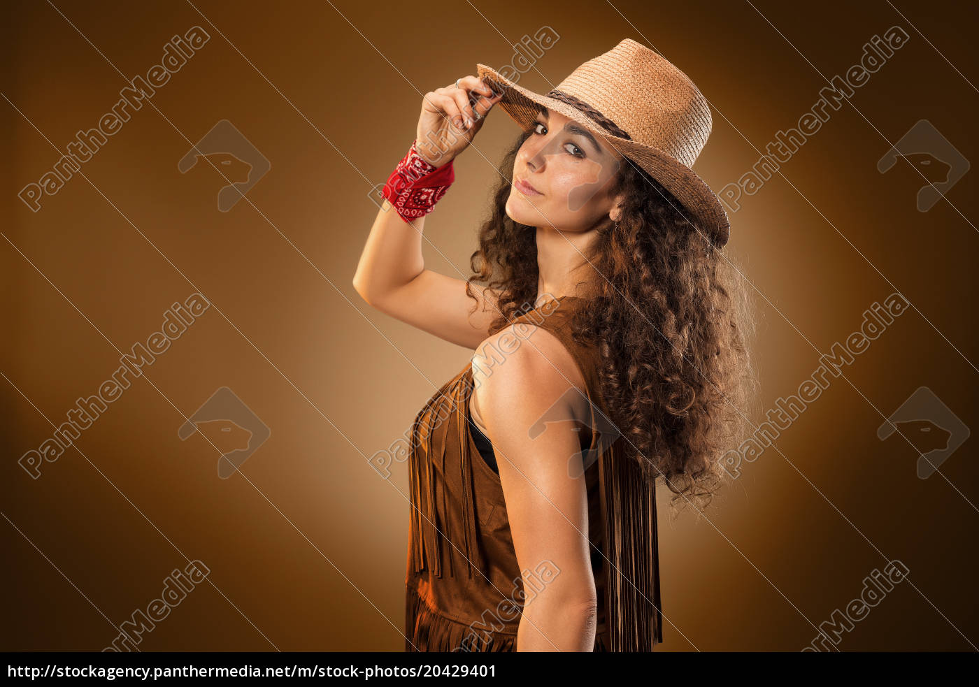the, cowgirl, fashion, woman, over, a - 20429401
