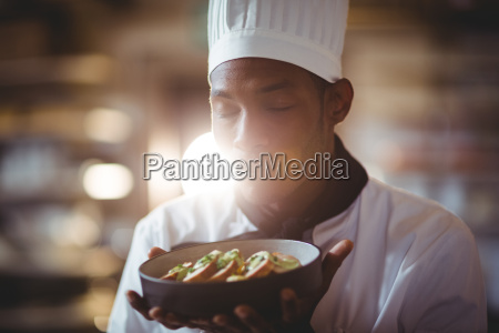 close up of chef with eyes