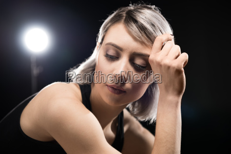 portrait of attractive young sensual woman