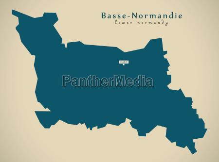 modern map basse normandie france
