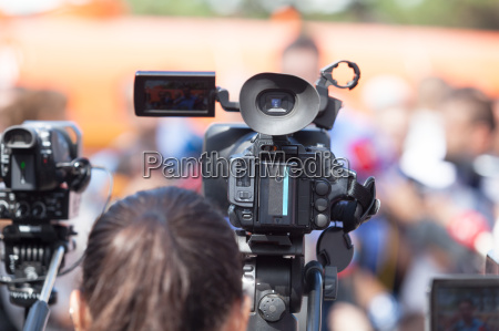 filming an event with a video
