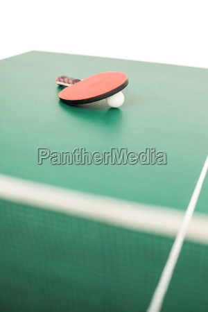 table tennis racket with a ball