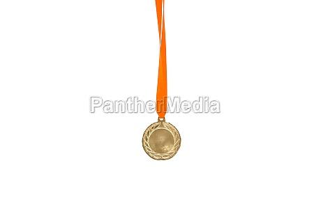 gold medal on white background