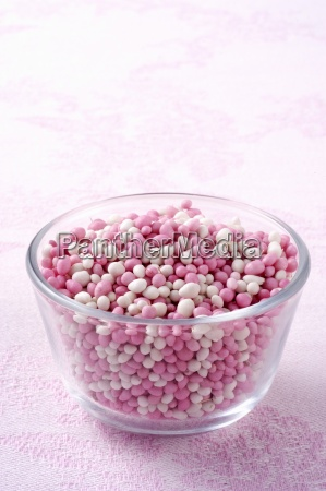 colourful sugar balls for decorating