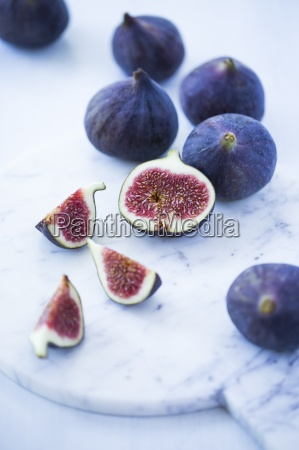 fresh figs whole one half and