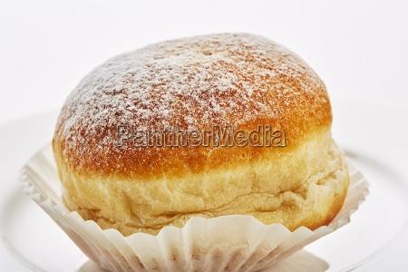doughnuts with icing sugar close up