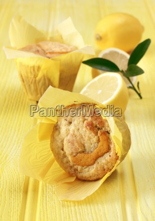 lemon and sultana muffins on a