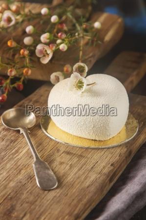 delightful luxury romantic mousse cake in