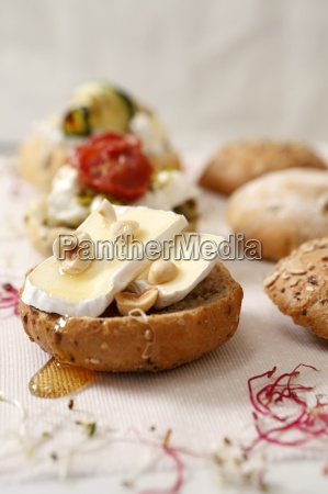 a camembert roll with hazelnuts and