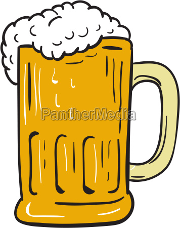 beer mug drawing