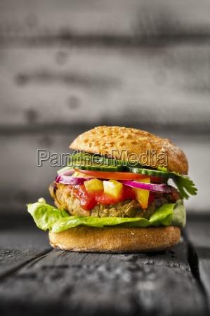a gluten free veggie burger