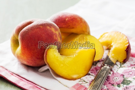 peaches whole and halved