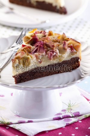 a slice of chocolate cheesecake with