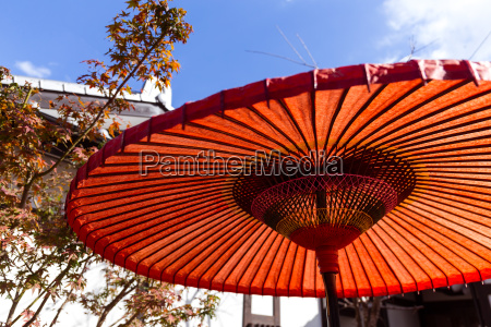 traditional red umbrella