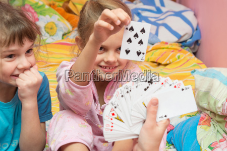 children happily pull the card from