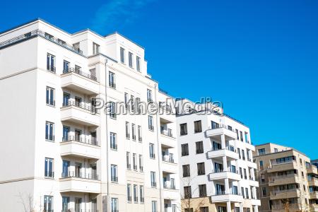 modern white residential buildings in berlin