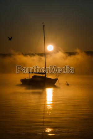 ammersee in the morning bavaria germany