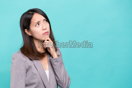 business, woman, thinking, of, problem - 20506709