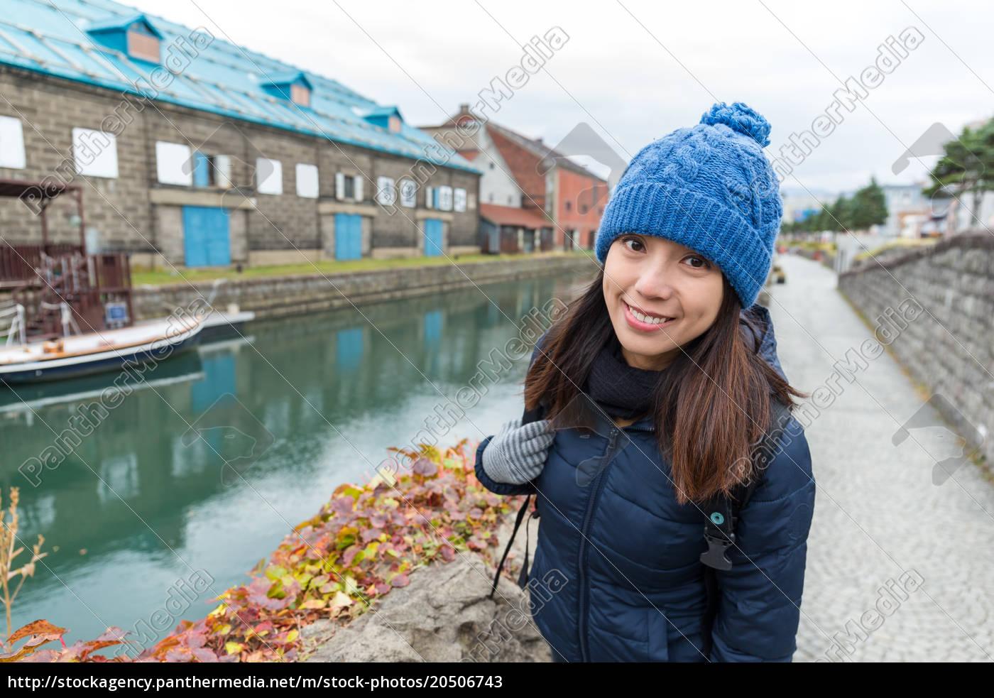 woman, visit, otaru, city - 20506743