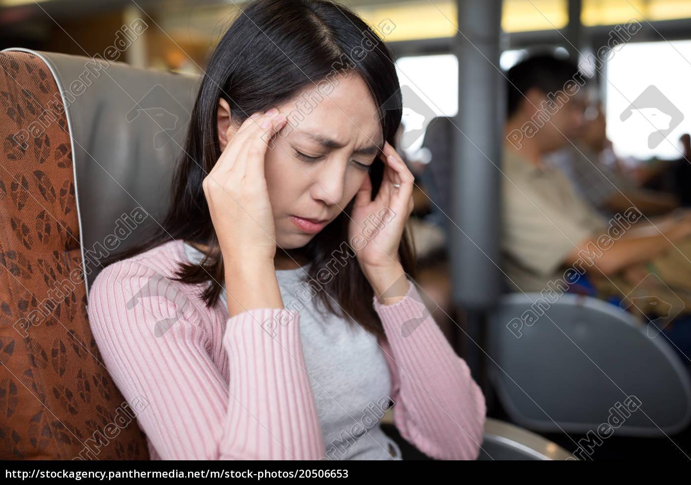 young, woman, feeling, headache - 20506653