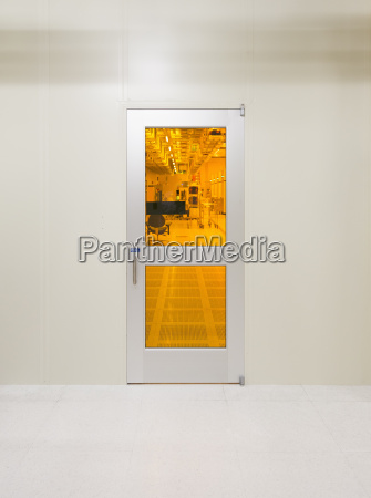 a door to a clean room