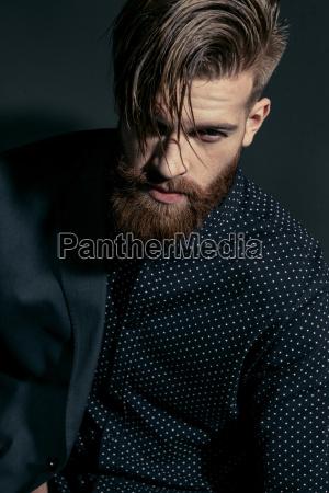 portrait of stylish handsome confident man