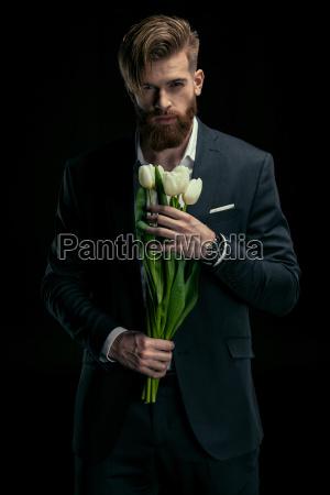 portrait of stylish man in suit