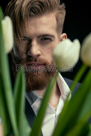 portrait of stylish confident man with