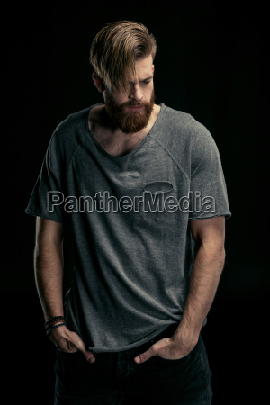 portrait of stylish man in shirt