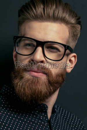 close-up, portrait, of, young, stylish, bearded - 20508547