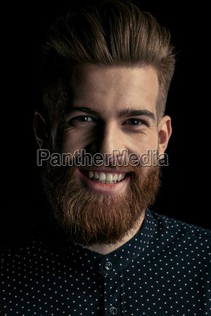 handsome, stylish, bearded, man, hipster, smiling - 20508519