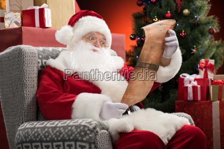 santa, claus, reading, wishlist - 20508345
