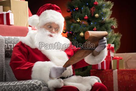 santa, claus, reading, wishlist - 20508349