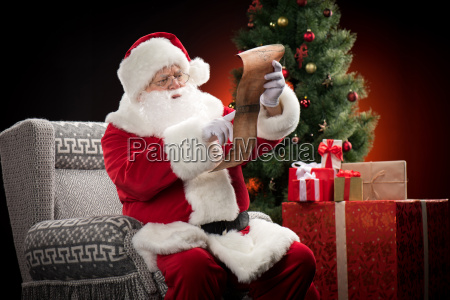 santa, claus, reading, wishlist - 20508359