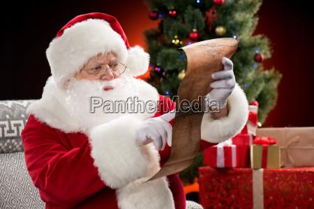 santa, claus, reading, wishlist - 20508361
