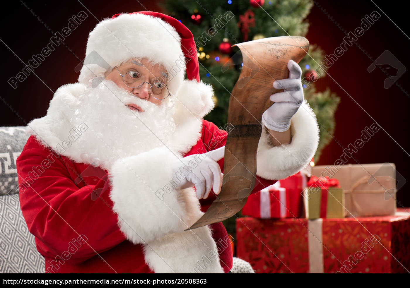 santa, claus, reading, wishlist - 20508363