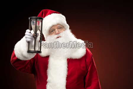 santa, claus, showing, hourglass - 20508307