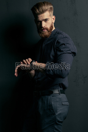stylish, handsome, bearded, man, hipster, with - 20508539