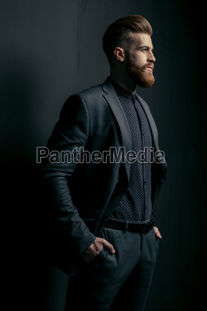 stylish, handsome, bearded, man, in, trendy - 20508555