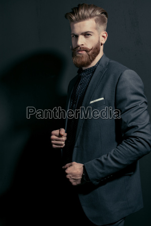 stylish, handsome, bearded, man, in, trendy - 20508557