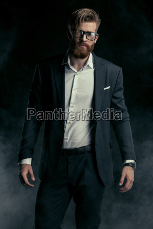 stylish, handsome, bearded, man, in, trendy - 20508571