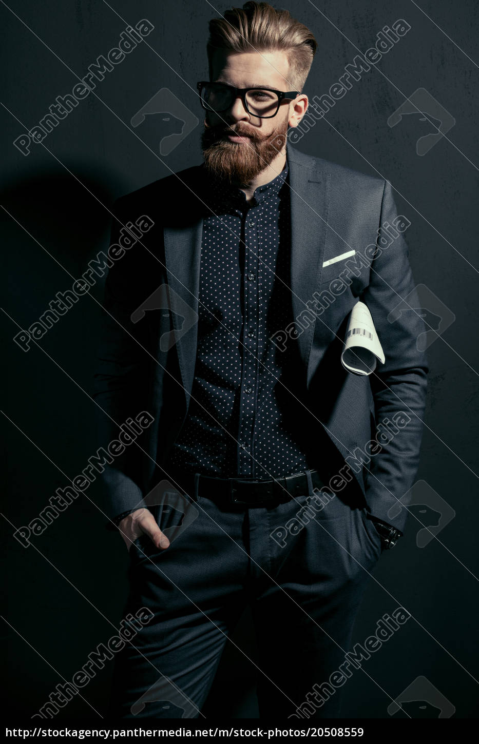 stylish, handsome, man, in, trendy, suit - 20508559