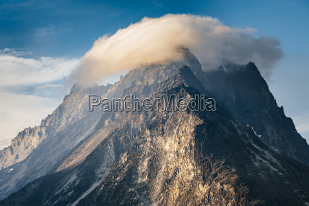 cloud cap over an unnamed mountain