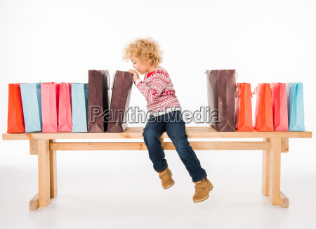 kid, with, shopping, bags - 20511883