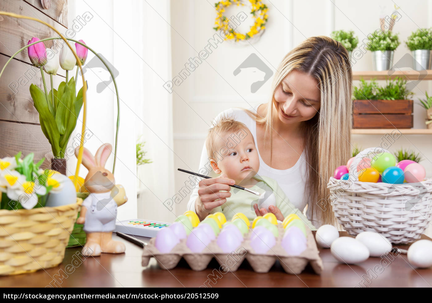 easter, concept., happy, mother, and, her - 20512509