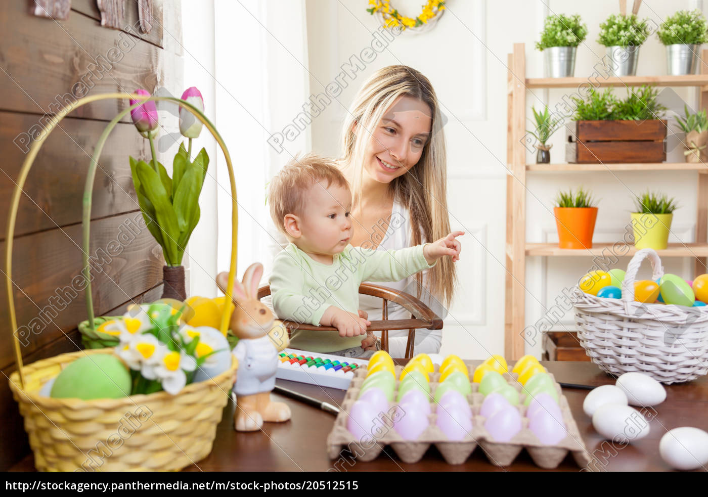 easter, concept., happy, mother, and, her - 20512515
